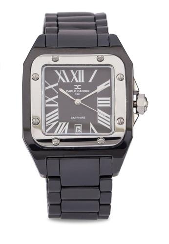 Carlo Cardini black Carlo Cardini Watch 501GC-BLK-4 CA038AC85IZQMY_1