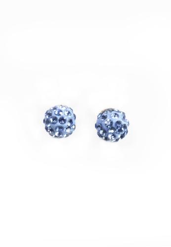 HEY SWEETY multi Crystal Ball Earrings HE303AC0J01MPH_1