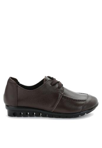 Twenty Eight Shoes 褐色 軟牛皮舒適鞋 VC668 AA520SHC5F791CGS_1