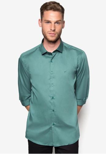 素esprit outlet台北色修身長袖襯衫, 服飾, 襯衫