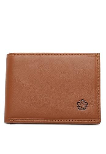 Wild Channel brown Rfid Short Wallet FC112ACA9E83C5GS_1