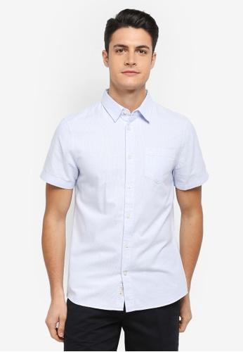 Jack Wills blue Stableton Short Sleeve Stripe Shirt C93A7AA9DB82C4GS_1