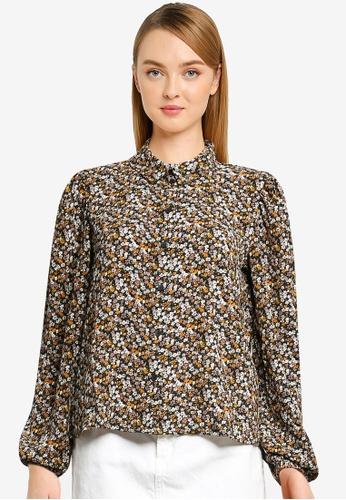 JACQUELINE DE YONG black Piper Puff Shirt A6D31AAEE1DB43GS_1