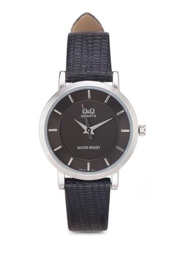 Qesprit outlet&Q Q945J301Y 壓紋仿皮手錶, 錶類, 其它錶帶