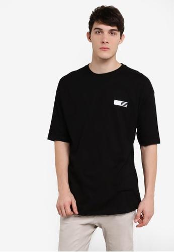 Factorie black Short Sleeve Shrug Tee FA880AA15JEYMY_1