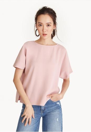 Pomelo pink Oversized Side Slit Tee - Pink EBEDAAA9C1D792GS_1