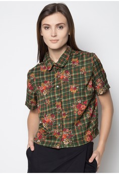 Cropped Short Sleeved Buttondown
