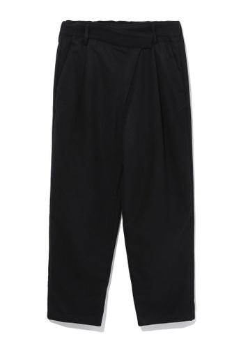 tout à coup black Wrap trousers 1A421AA49E6D1CGS_1
