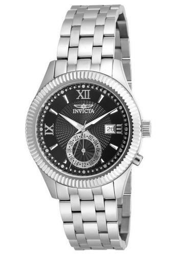 INVICTA silver Invicta Specialty Men 40mm Case Silver Stainless Steel Strap Black Dial Quartz Watch 18098 w/ Cap IN968AC0F9QXSG_1