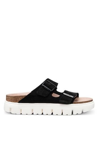 Birkenstock black Arizona Chunky Suede Sandals CDC9ESH33F2ED1GS_1