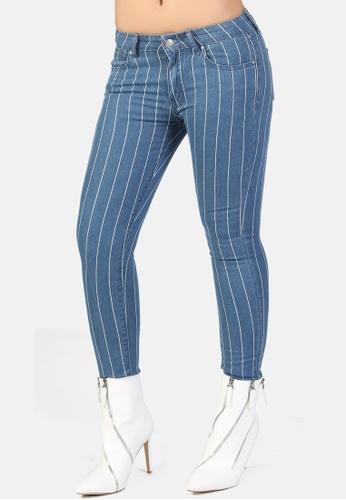 London Rag blue Striped Skinny Jeans E4F58AADD6AB83GS_1