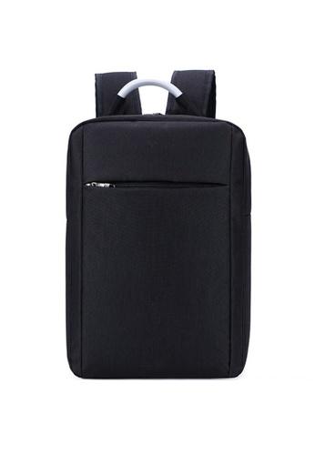 A FRENZ black Slim Nylon Laptop Backpack A32ADACB6EDBE4GS_1