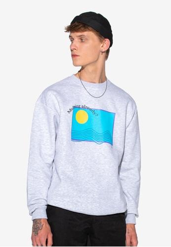 Local Heroes grey Melting Sweatshirt 53F20AA8DB8873GS_1