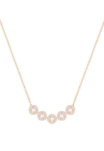 Swarovski gold Angelic Square Necklace AD4CDAC6164EA5GS_1