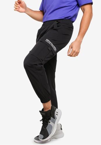 361° black Basketball Series Casual Cropped Pants 96EBBAA1E4407EGS_1