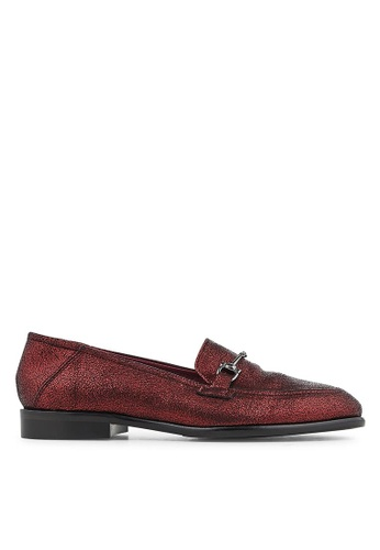 Minelli F61 123/MET Metallic Leather Bucked Loafers - Ludie MI352SH0GHC2SG_1