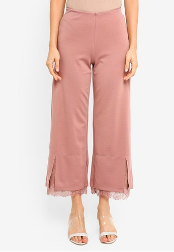 Gene Martino pink Straight Cut Pants 5D1BDAA035636FGS_1
