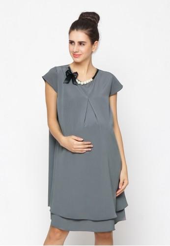 Chantilly grey Yola Maternity Dress 51002 6EA2EAA26A43DDGS_1