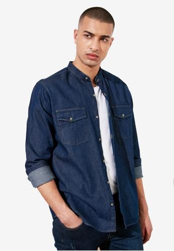 Trendyol navy Regular Fit Denim Shirt 09A69AAA1D8935GS_1