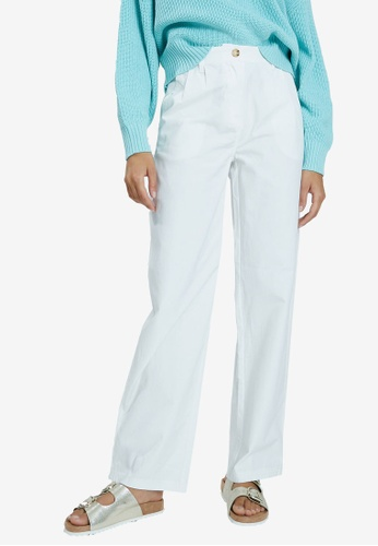 PIMKIE white Plain Long Trousers F9ADBAA27FCC05GS_1