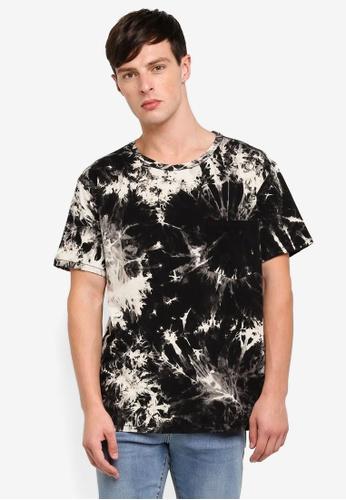 Dr Denim 黑色 短袖印花T恤 F1B45AA53C25DEGS_1