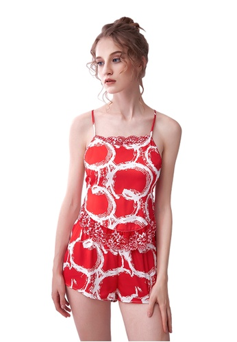 LYCKA red LCB2149-Lady Casual Pajamas Two Pieces Set-Red CE027USE183D7EGS_1