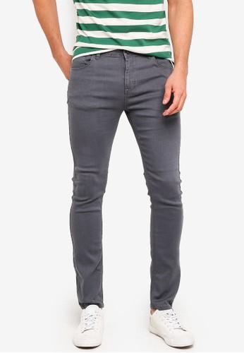 Penshoppe grey Skinny Fit Zip Fly Jeans 5E8C8AA501D684GS_1
