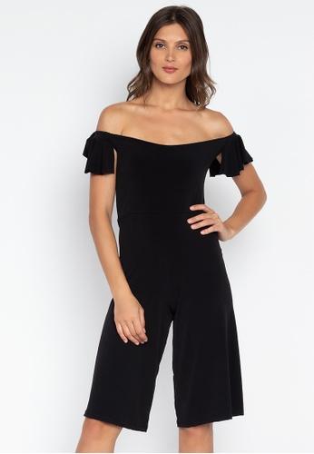 15e0f4cc018 Shop Ashley Collection Off Shoulder Ruffle Culottes Jumpsuit Online on  ZALORA Philippines
