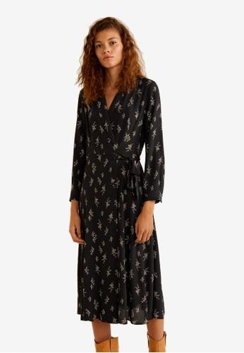 Mango black Print Wrap Dress 21EA2AA84412F0GS_1