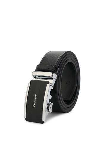 Playboy black Men's Belt - 35mm Automatic Buckle EB86BACBCCE645GS_1