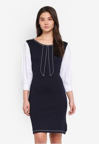 Haute Kelly navy Chun-Hwa Dress 21932AAD1D9F80GS_1