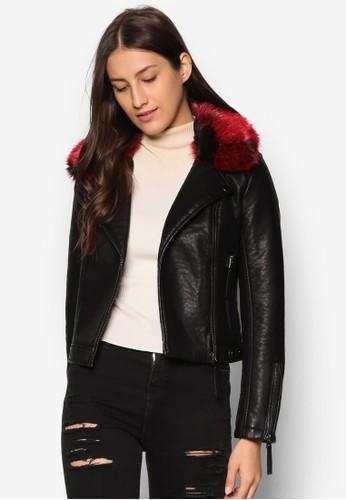 PU Biker Jacket, 服飾, zalora 台灣皮革外套