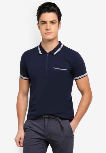 ESPRIT navy Short Sleeve Polo Shirt 99436AA440F4CDGS_1