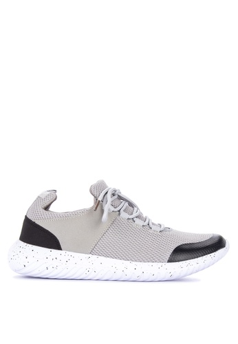 Penshoppe grey Lace-Up Runners 71970SH9FD77EEGS_1