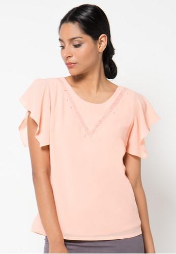 WHITEMODE pink Belinda Blouse WH193AA61QYGID_1