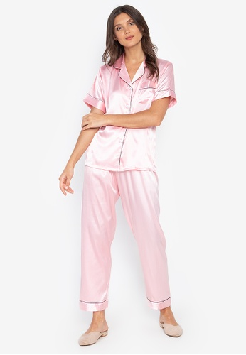 FEMINISM pink Shortsleeve Pajama Set 1DFCFAACCD45F5GS_1