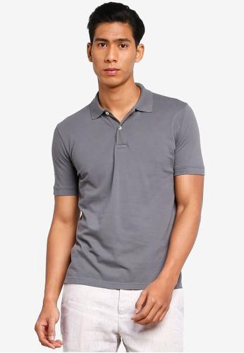 OVS 灰色 素色POLO衫 1B8D9AAA2E6D17GS_1