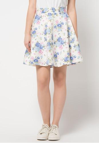 EDITION blue Rose Skirt ED101AA02AOJID_1