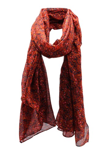 ONLY red Alfa Weaved Scarf 98F27ACC690CFDGS_1