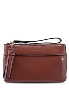 56dbba8b515ea ESPRIT brown Faux Leather Purse EE773AC5A67904GS_1