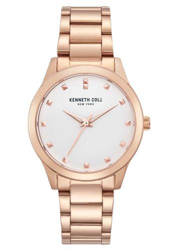 Kenneth Cole white Kenneth Cole 34mm - Rose Gold-Tone Case & Bracelet (KC50016002) 53E54ACBDFB763GS_1