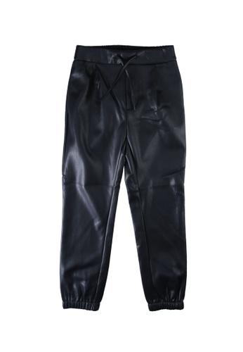 ONLY black Pop Leather Look Trousers B7D4DKA2055B2EGS_1