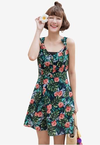 Tokichoi navy Tropical Floral Tie Strap Dress 7C2EBAA31168A6GS_1