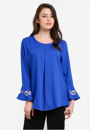 BYN blue Muslimah Blouse BY059AA0S0XVMY_1