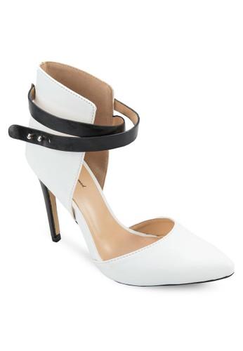包跟雙圈踝帶高跟鞋, 女鞋,zalora 手錶 評價 厚底高跟鞋