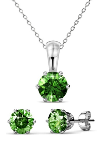 Her Jewellery green Birth Stone Set (August) - Made with premium grade crystals from Austria BE9A8ACBF5E790GS_1