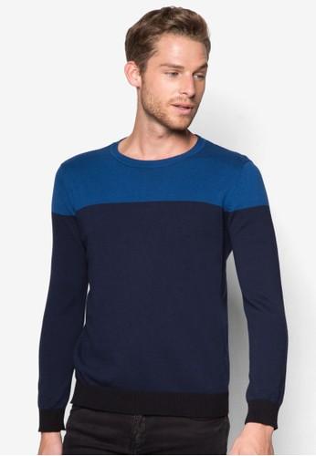三色拼接針織衫esprit hong kong 分店, 服飾, 外套