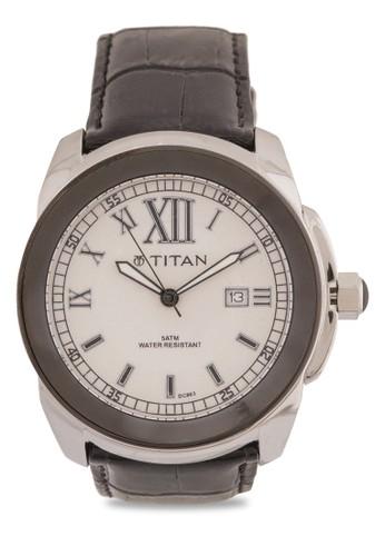 羅馬數esprit outlet 家樂福字不銹鋼皮革錶, 錶類, 錶類