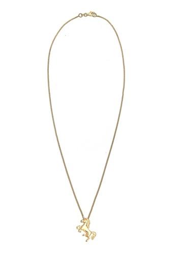 Elli Germany gold Silver Gold Unicorn Magic Necklace EL474AC0RFHSMY_1