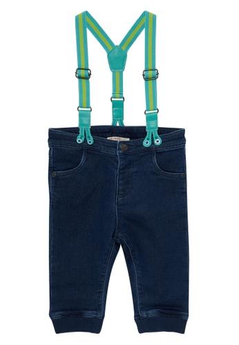 Du Pareil Au Même (DPAM) navy Suspender Jeans E61F1KA2FAB8DAGS_1